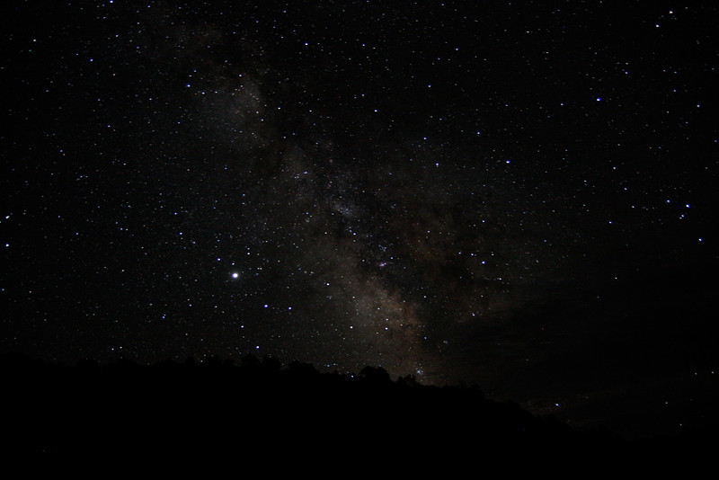 The Milky Way, visible on a dark night camping in the middle of nowhere in Nevada