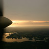 Flying over Lake Tyler in east Texas
