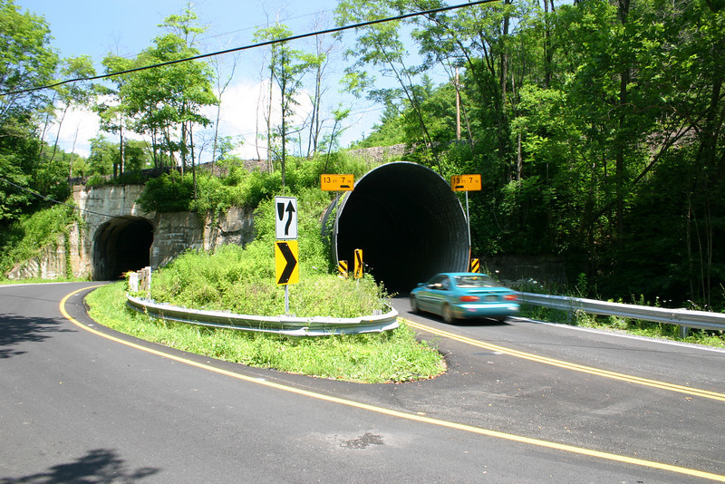 This tunnel was actually a massive corrugated iron pipe