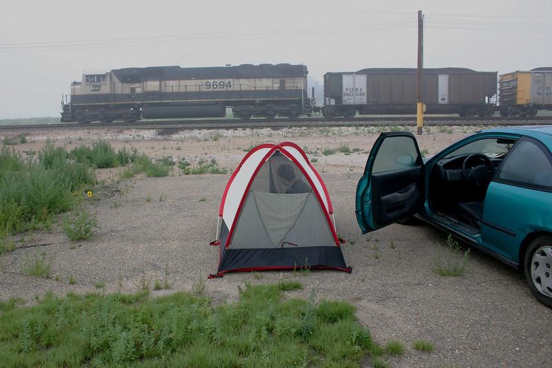 A scenic campsite in Nebraska