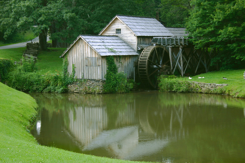An old water mill in North Carolina