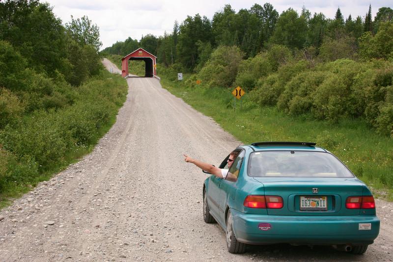A covered bridge in Ontario, Canada