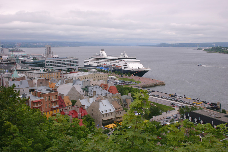 A cruise ship on the St. Lawrence River in Quebec City, Quebec