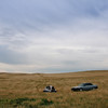 Camping in the prairie in northern Wyoming