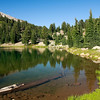 A small lake in California's Lassen Volcanic National Park