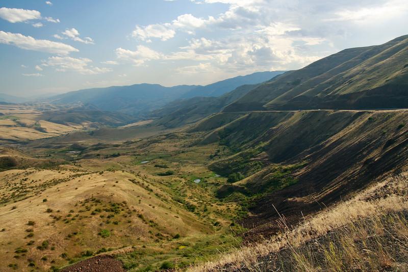 Hwy 95 in Idaho, following the Nez Perce Trail