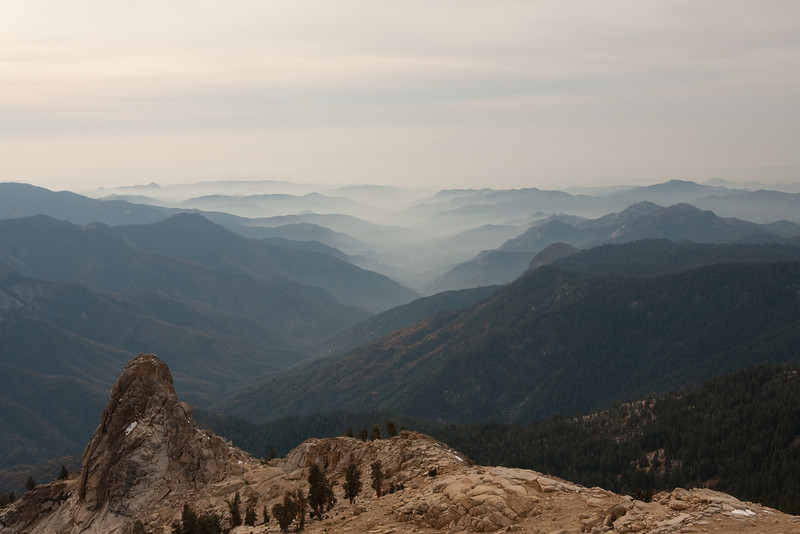 Looking west towards California's Central Valley, from near the top of an 11,000-ft peak we hiked