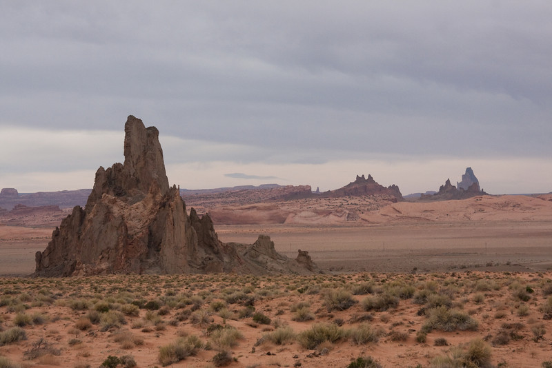 Exotic scenery near Monument Valley, AZ