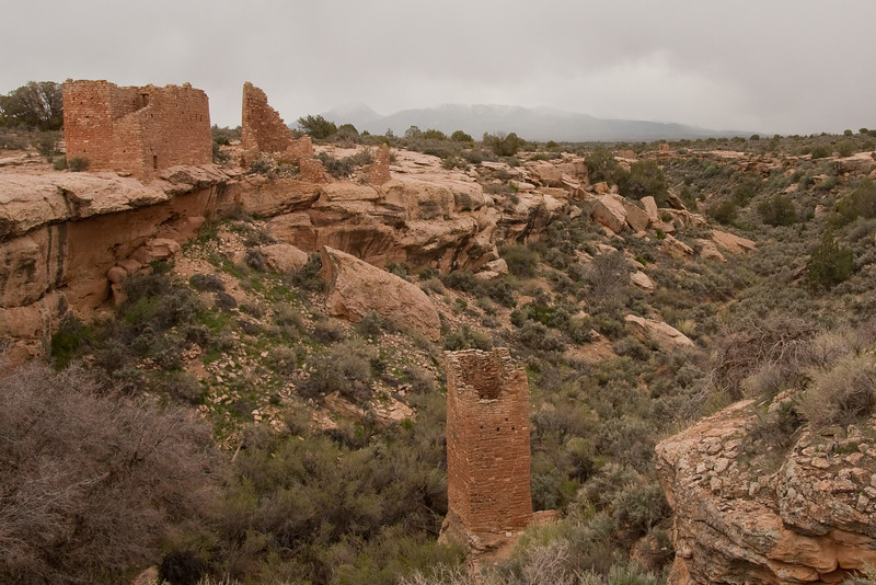 We visited another Ancestral Puebloan site at Hovenweep National Monument in Utah.  800 years ago the Four Corners area held a greater population than it does now!