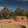 Far View ruins, Mesa Verde, CO.  The two kivas and the tower seen here, along with the rest of the ruins at Mesa Verde, were built by the Ancestral Puebloan people in the 1200s AD.  Surface sites such as this one predate the more famous cliff dwellings.