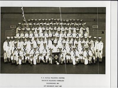 USNTC Bainbridge - Company 64 - 1st Regiment, Camp Rodgers - May 1957