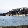 USS Hunley (AS-31) and USS Los Alamos (AFDB-7) with an SSBN out of the water at FBM Site 1, Holy Loch Scotand.  January 1983.