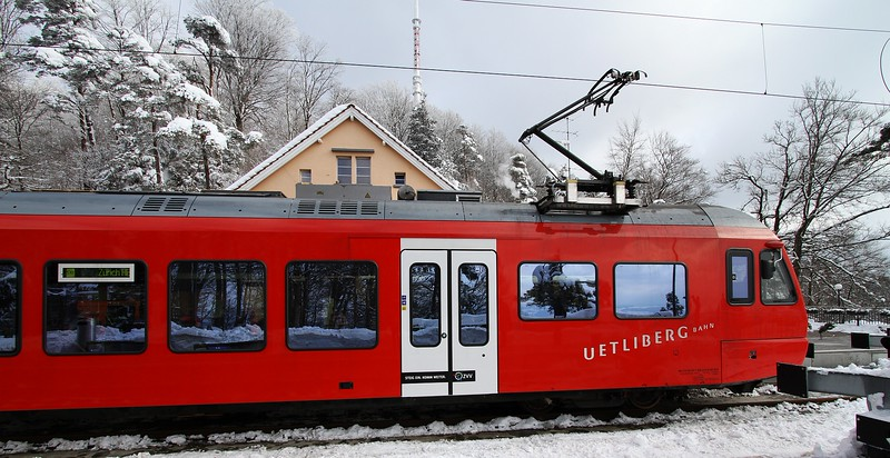 The train that took us from the main train station to the top of the mountain