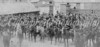 Several troops of the Enniskillen Horse being reviewed