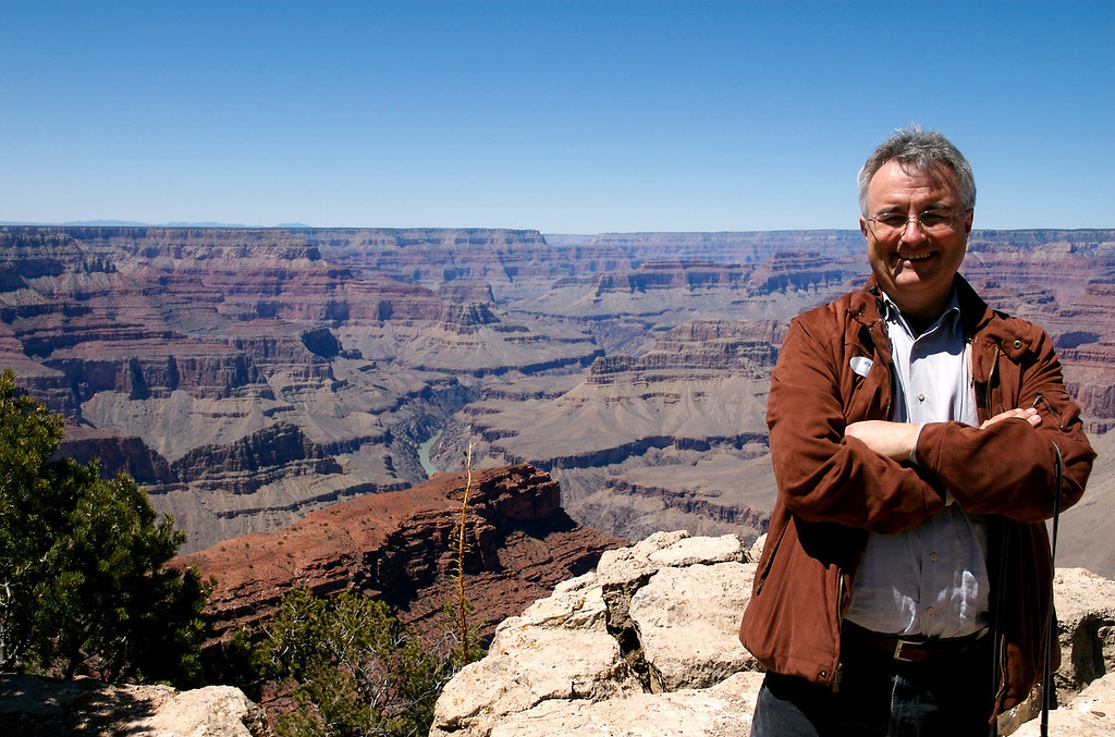 Leo at Grand Canyon <br /> Hopi Lookout - and a spectacular day at the Grand Canyon
