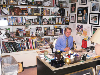 Regis in his office