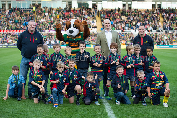 Under 8's half time, Franklin's Gardens, 11 October 2014