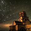 Serbian Church under the night sky, Canberra