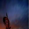 Windmill under night sky