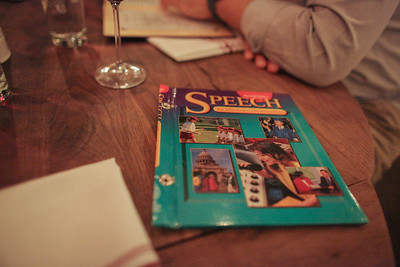 Underbelly, Houston, TX, 2012  Our wine menu had an old speech textbook cover.