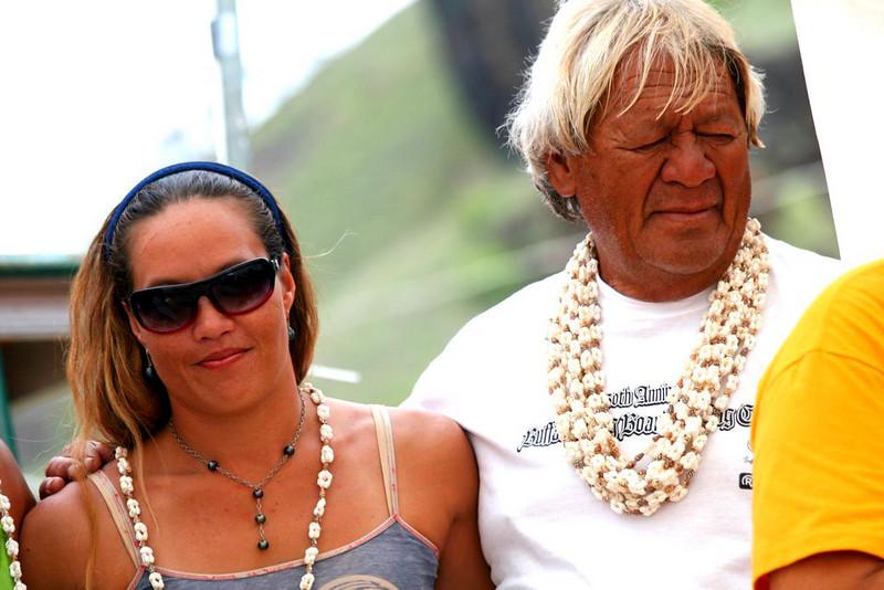 Uncle Buffalo Keaulana & Pake at the 2006 Buffalo's Classic Surfing Contest