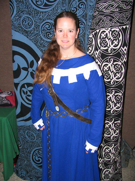 Victoria of Lynnwood and her new dress.<br /> <br /> Twelfth Night in the West, 2007