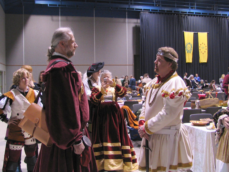 Sir Brion of Bellatrix taking William Warren as his man-at-arms<br /> <br /> Twelfth Night in the West, 2007