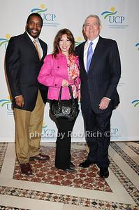 Chad Coleman, Debbie Brooks, Dan Rather photo by Rob Rich © 2009 robwayne1@aol.com 516-676-3939