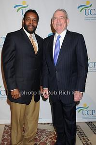 Chad Coleman, Dan Rather photo by Rob Rich © 2009 robwayne1@aol.com 516-676-3939
