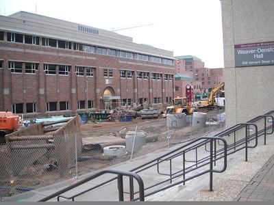 Aug 31st 2011 Light Rail Project on Washington Avenue...