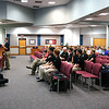 Robotics student Bill Waters presenting to KISD School Board in 2013.