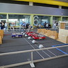 "Just recently, 4 of the  KISD teams practicing with 2016 robots at the RSC. The wooden things on the are the different ""field elements"" that were build for this year's game.  The robots had to cross the various items, the one of the right side of the photo is the ""draw bridge"".  More or less obstacles for the robotics that were part of this year's challenge."