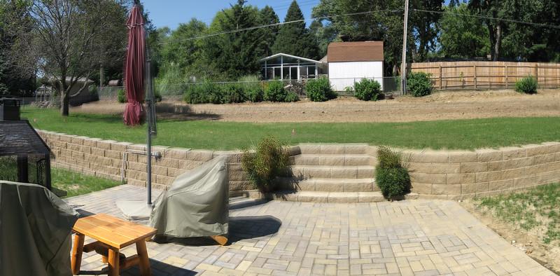 Parents' backyard