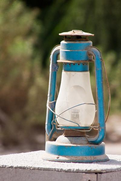 A lantern at Heritage Village, Dubai, UAE.
