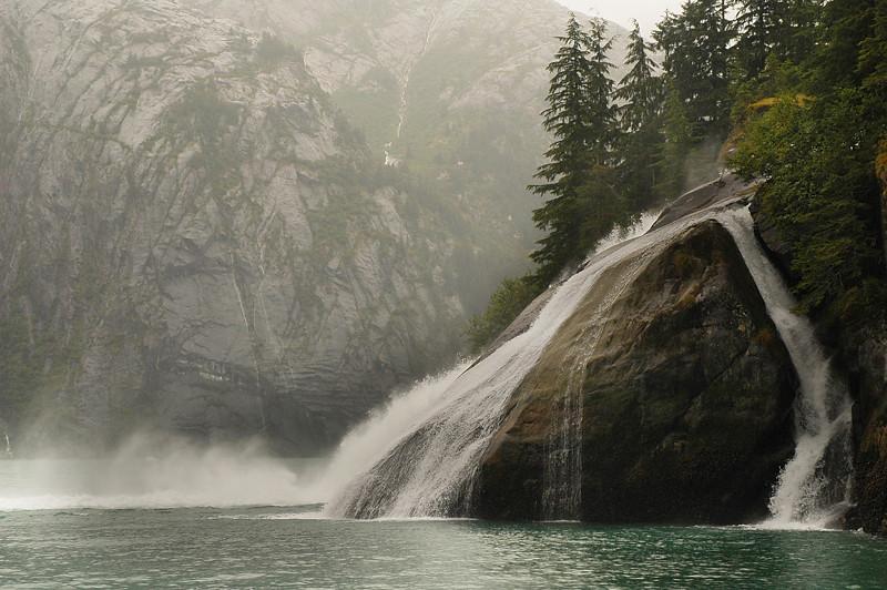 Tracy Arm, Alaska - Waterfall