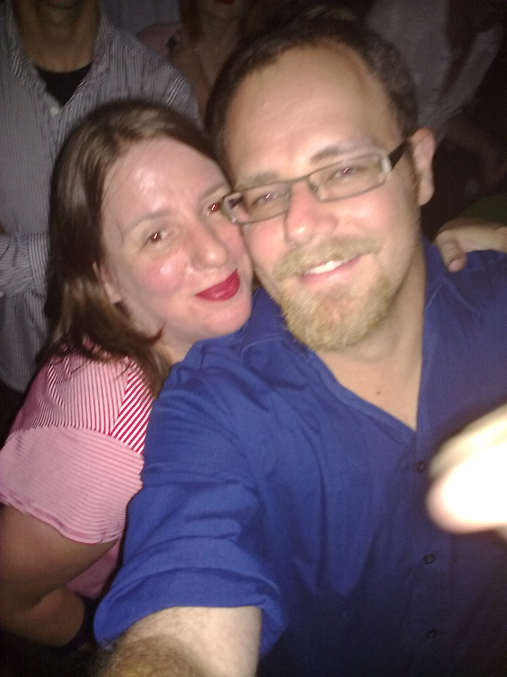 At Severed Heads gig at Becks Festival Bar. Babysitters FTW!