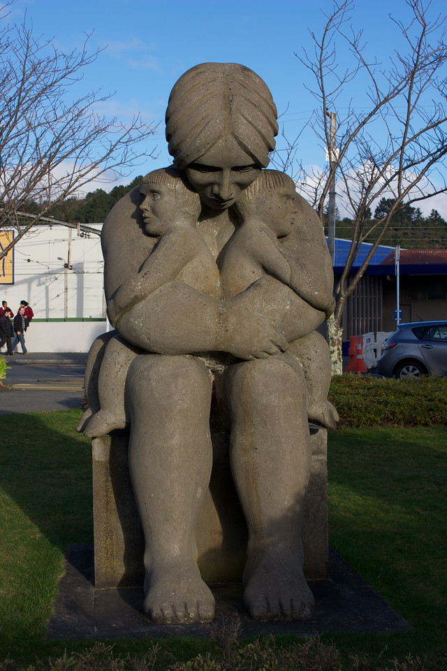 Maternity Statue Year of the Child Upper Hutt 1979 (photographed 2010)