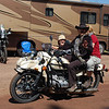 Famed global solo motorcyclist Carla King takes Mark's Ural for a spin and encounters excited hitchhikers at Overland Expo 2012.