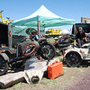 Mark Tetreau mans his gorgeous Ural booth at Overland Expo 2012, and lures in many a customer.