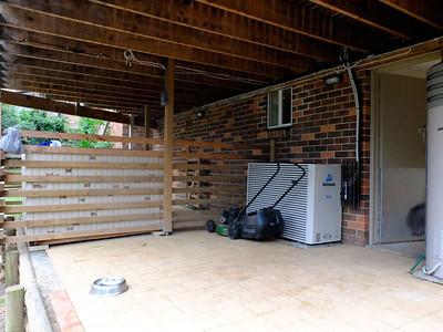 Underneath the verandah out the back