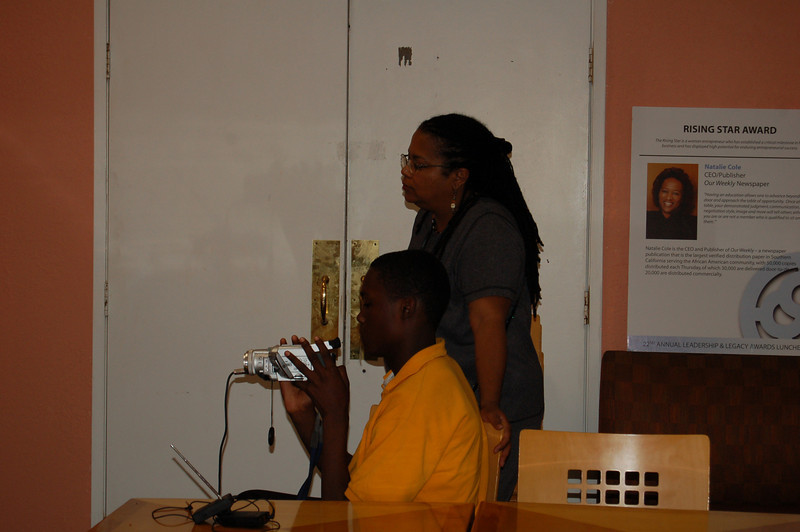 Instructor Isidra Person-Lynn with a watchful eye over the workshop proceedings