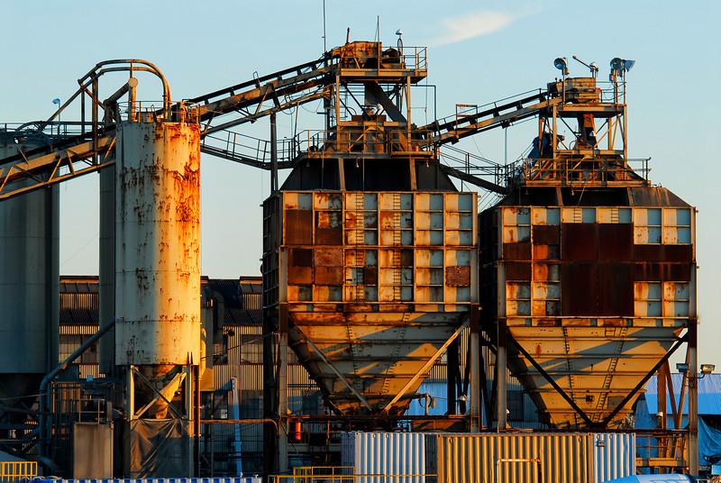 Rusty factory buldings