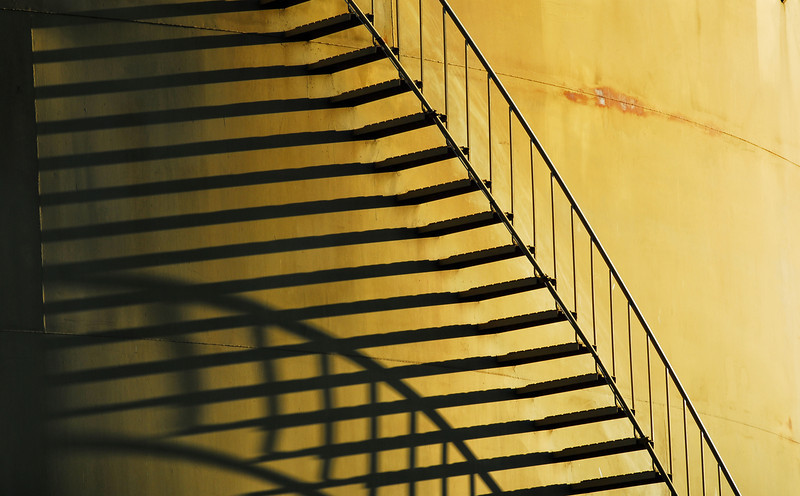 Stairs and shadows.