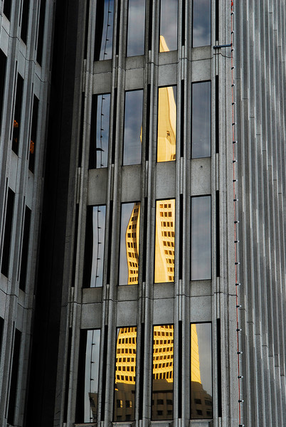 Window reflecting the TransAmerica Building, San Francisco