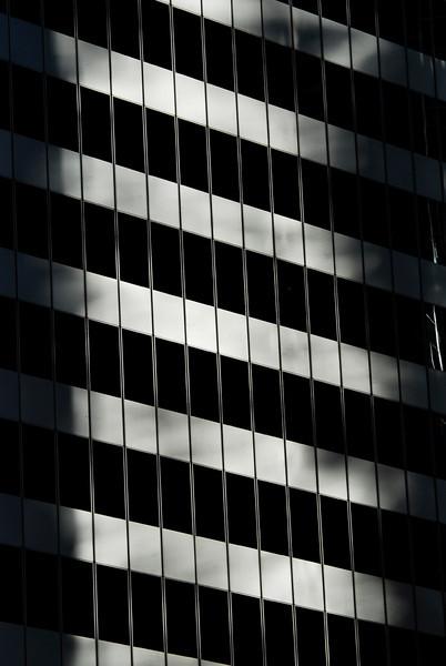 Light reflecting on highrise windows