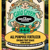She also fertilizes her garden beds with an organic fertilizer.