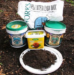 Organic fertilizers and amendments will make plants strong.