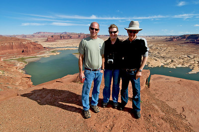 Mike, Susan and Phil at Lake Powell