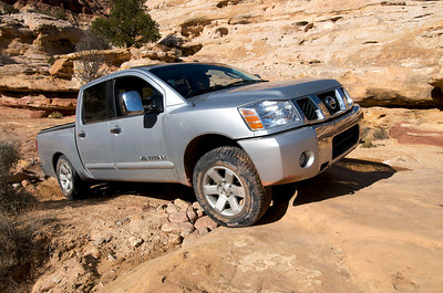 Phil and Susan in their mighty Nissan Titan. It was more than up to the task.