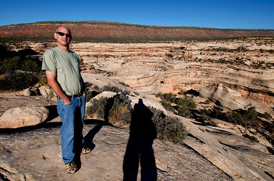 Mike at the natural bridges driving tour in Utah on the way to Canyonlands.